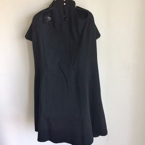 Dresses - Dress Black Off the Shoulder Self Choker Size 4X